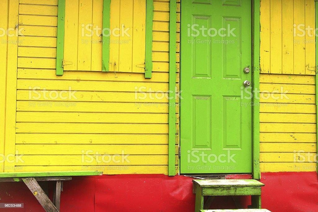 Cores rastafári na Ilha shack-irie Seg - Foto de stock de Amarelo royalty-free