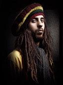 Rastafarian guy portrait