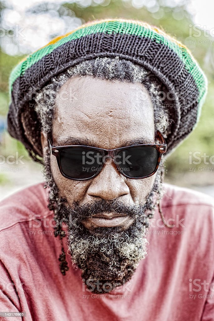 Rastaman portrait. stock photo