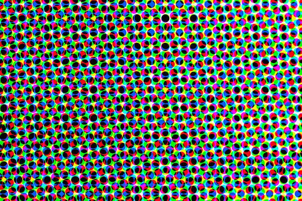 Raster background of colored circles - Fondo Trama de Circulos stock photo