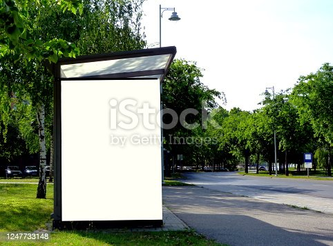 841502736 istock photo raster composite collage of bus shelter at a bus stop. background for mock-up 1247733148