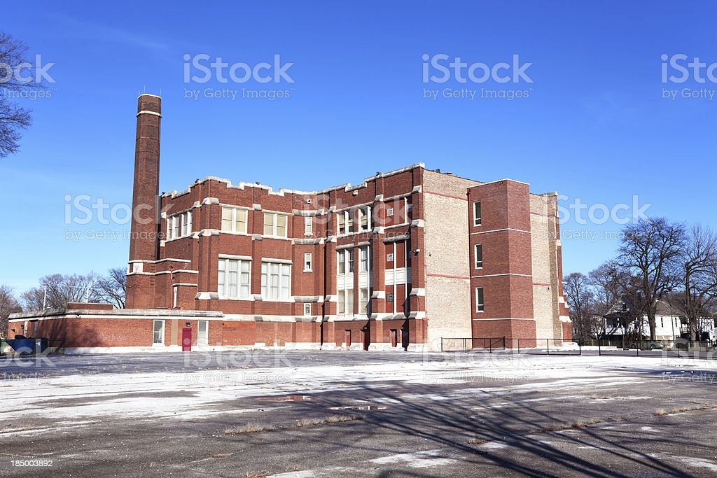 Raster Elementary School in West Englewood, Chicago royalty-free stock photo