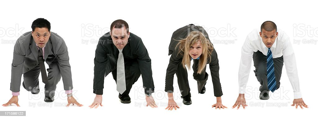 Rat race royalty-free stock photo