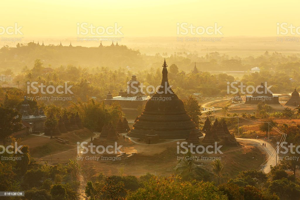 Ratanabon Paya in Mrauk-U, Myanmar stock photo