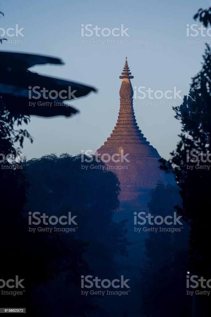 Ratanabon Paya in Mrauk-U, Myanmar. stock photo