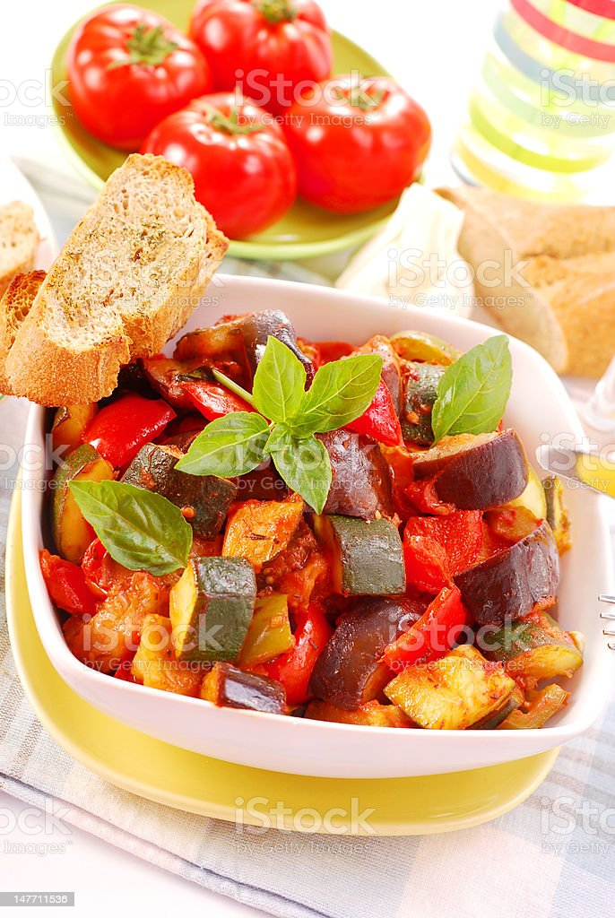 ratatouille for lunch royalty-free stock photo