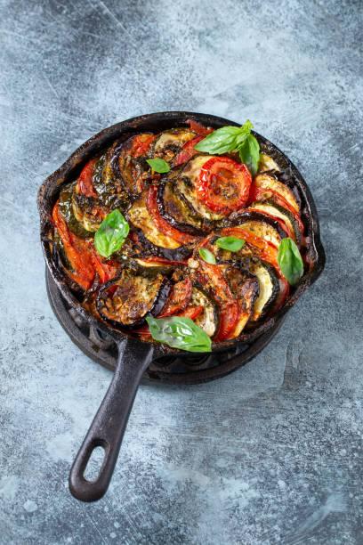 Cтоковое фото Ratatouille in iron cast pan