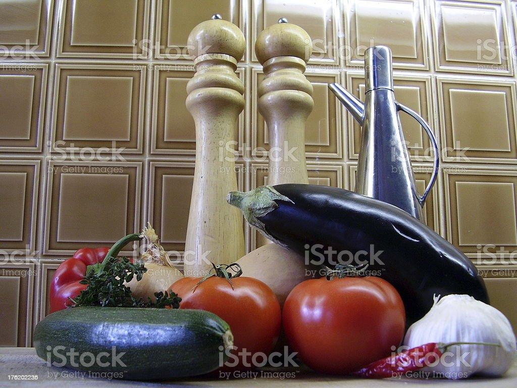 Ratatouille Ingredients royalty-free stock photo