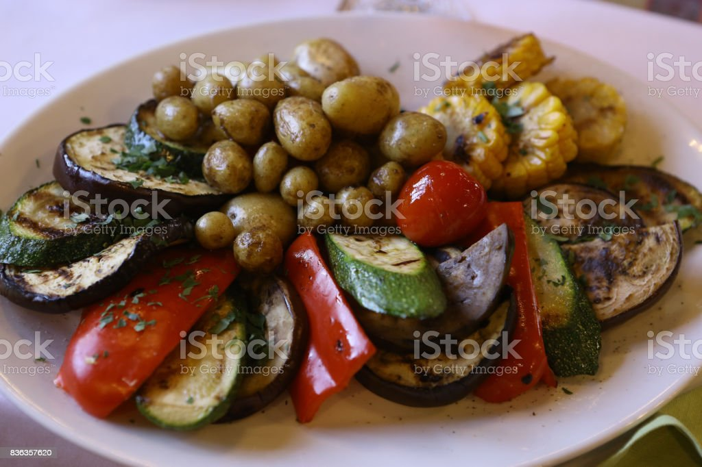 ratatouille on the plate stock photo
