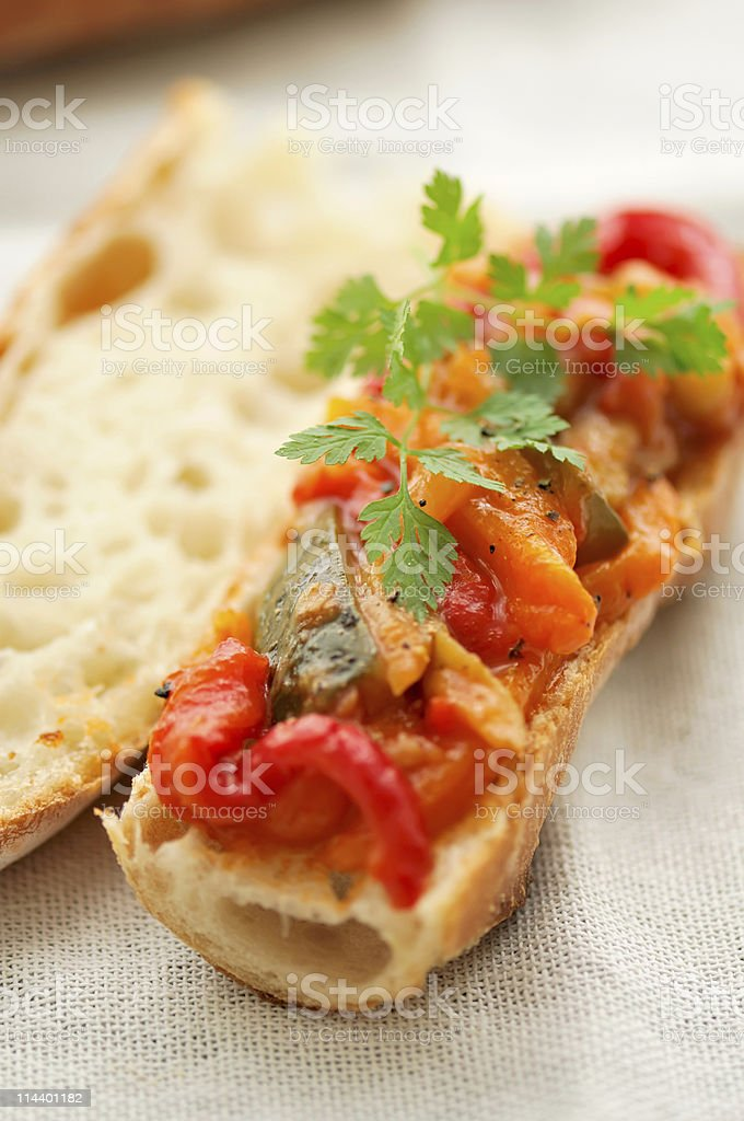 Ratatouille Sandwich royalty-free stock photo