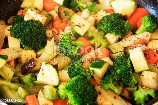 Ratatouille. Vegetable, broccoli carrot fennel celery zucchini eggplant sauté