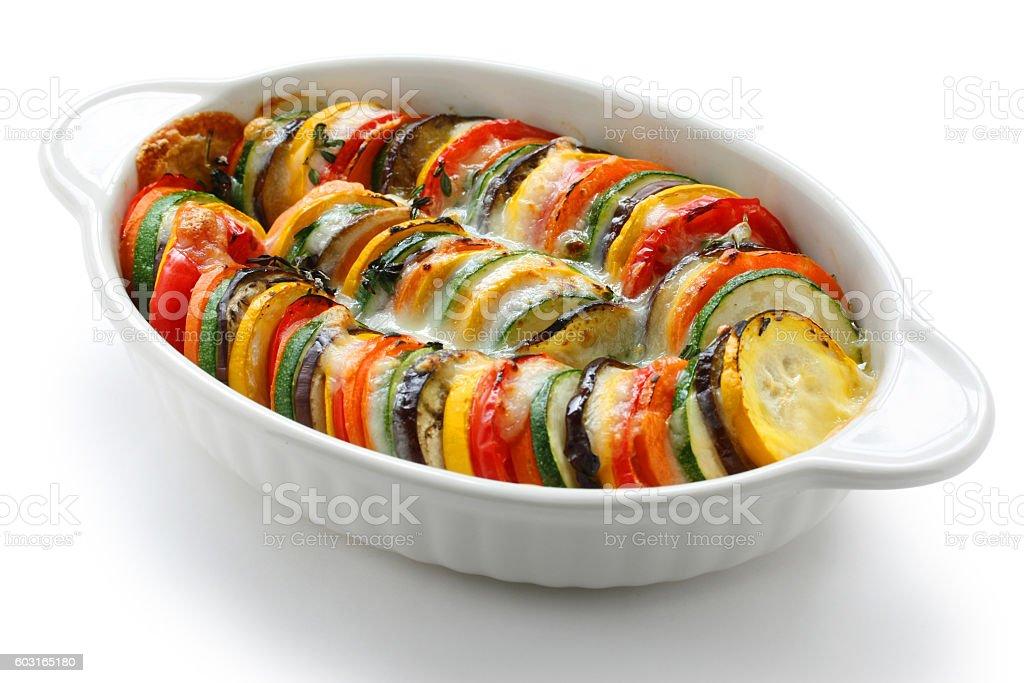 ratatouille, vegetable gratin stock photo