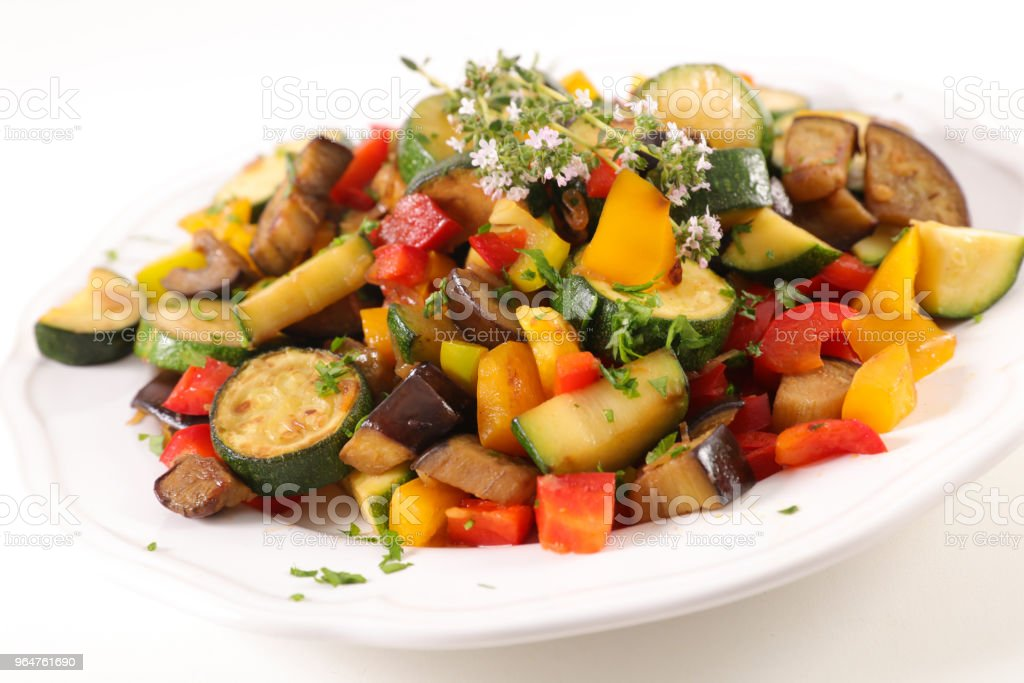 ratatouille, vegetable stew royalty-free stock photo