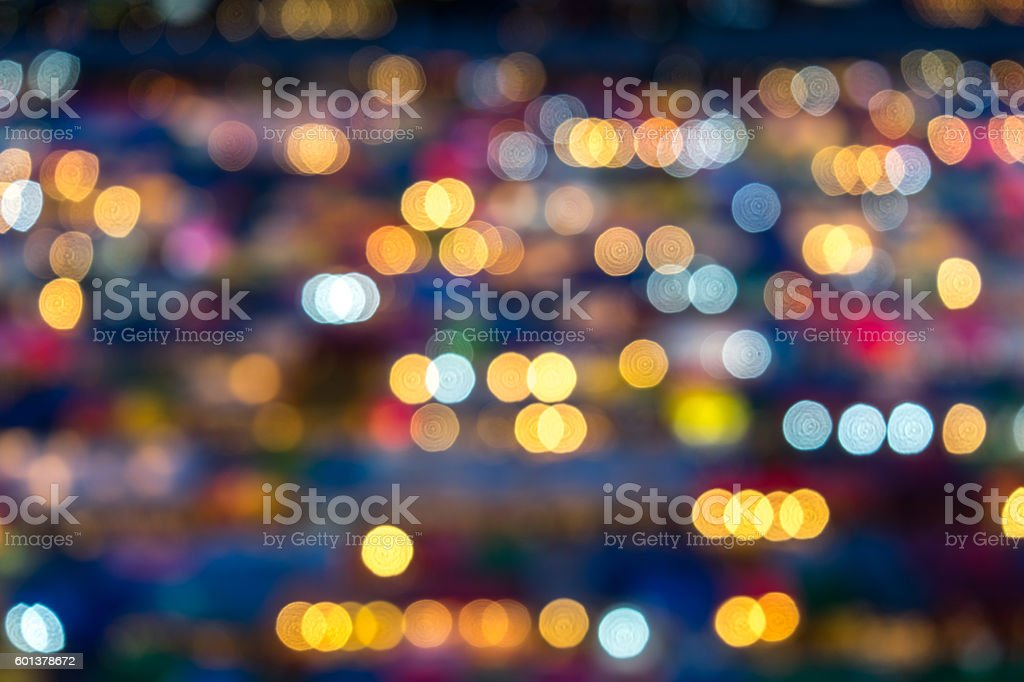 Ratchada Train Market in Bangkok , Thailand / Boken stock photo