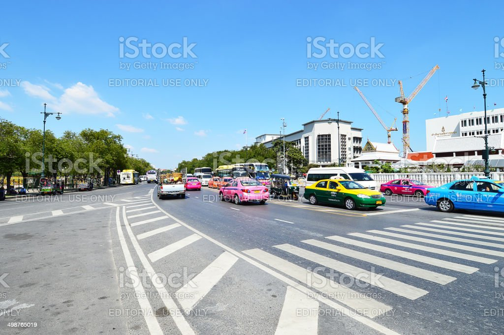 Ratchadamnoen Avenue, Bangkok, Thailand royalty-free stock photo