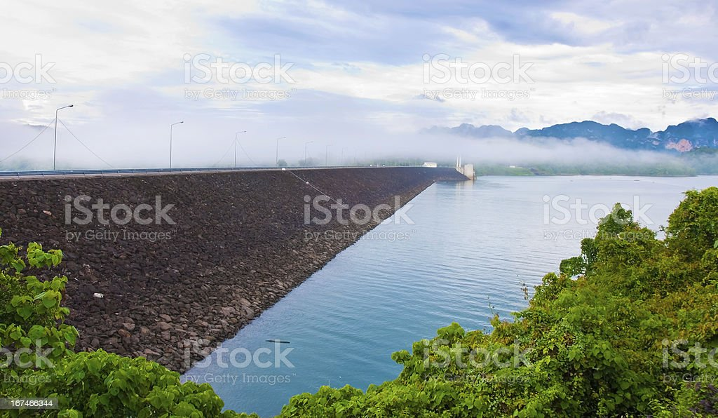 Ratchapraph dam royalty-free stock photo