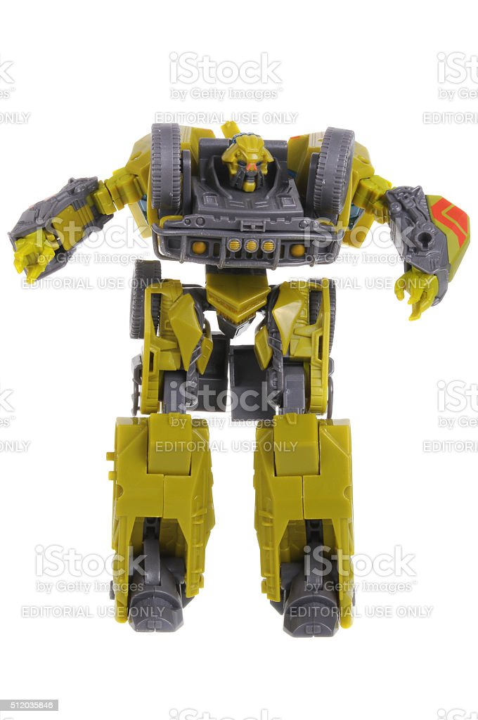 Ratchet Transformers Action Figure stock photo