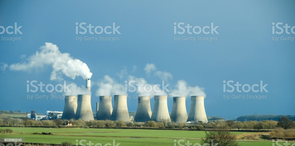Ratcliffe-on-Soar Power Station, England stock photo