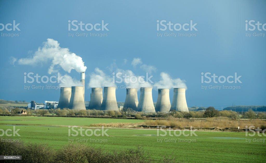 Ratcliffe-on-Soar Power Station, England stock photo