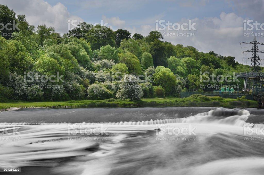 Ratcliffe-On-Soar Weir 2 stock photo