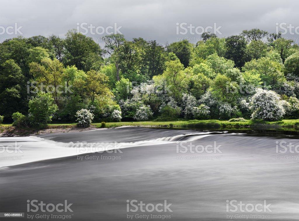 Ratcliffe-On-Soar Weir stock photo