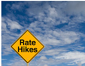 "A sign that says ""Rate Hikes."""