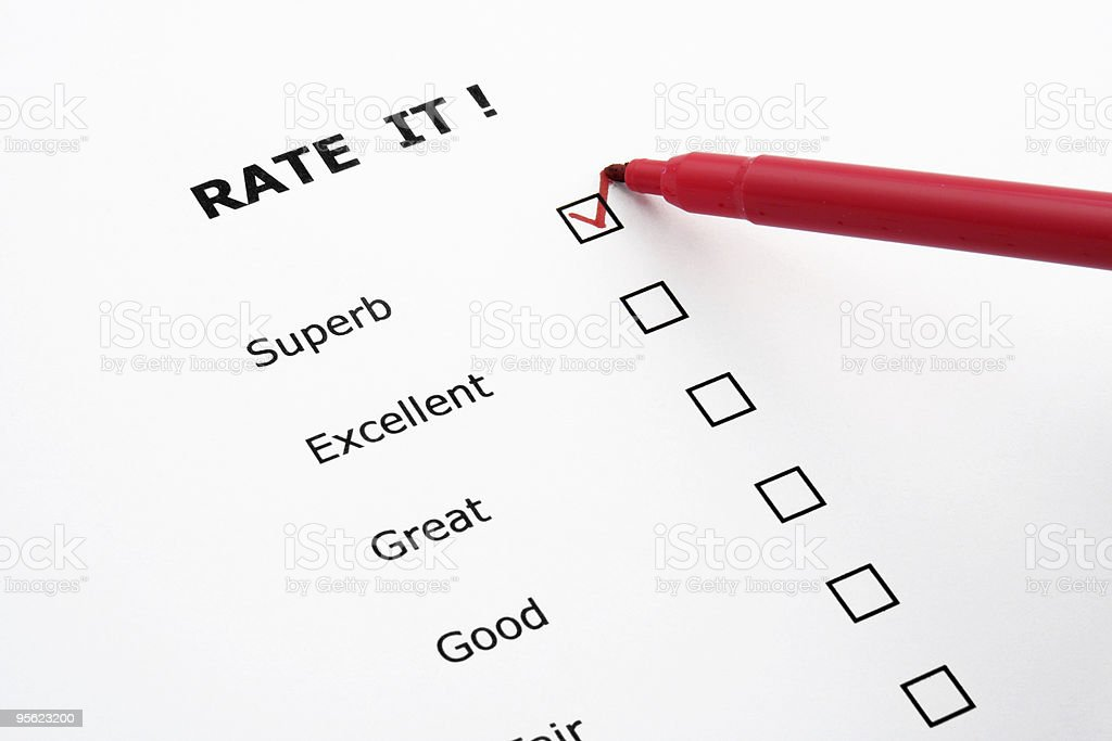 rate it royalty-free stock photo