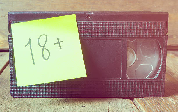 18 rated video sex tape vintage color - number 18 stock photos and pictures