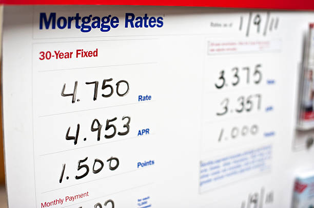 rates for mortgages for a company - mortgages and loans stock pictures, royalty-free photos & images