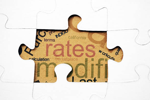 rates puzzle concept - rates stock photos and pictures