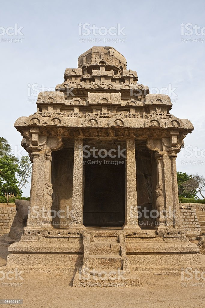 Ratha at Mahabalipuram royalty-free stock photo