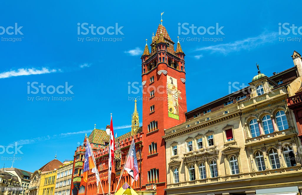Rathaus, Basel Town Hall - Switzerland stock photo