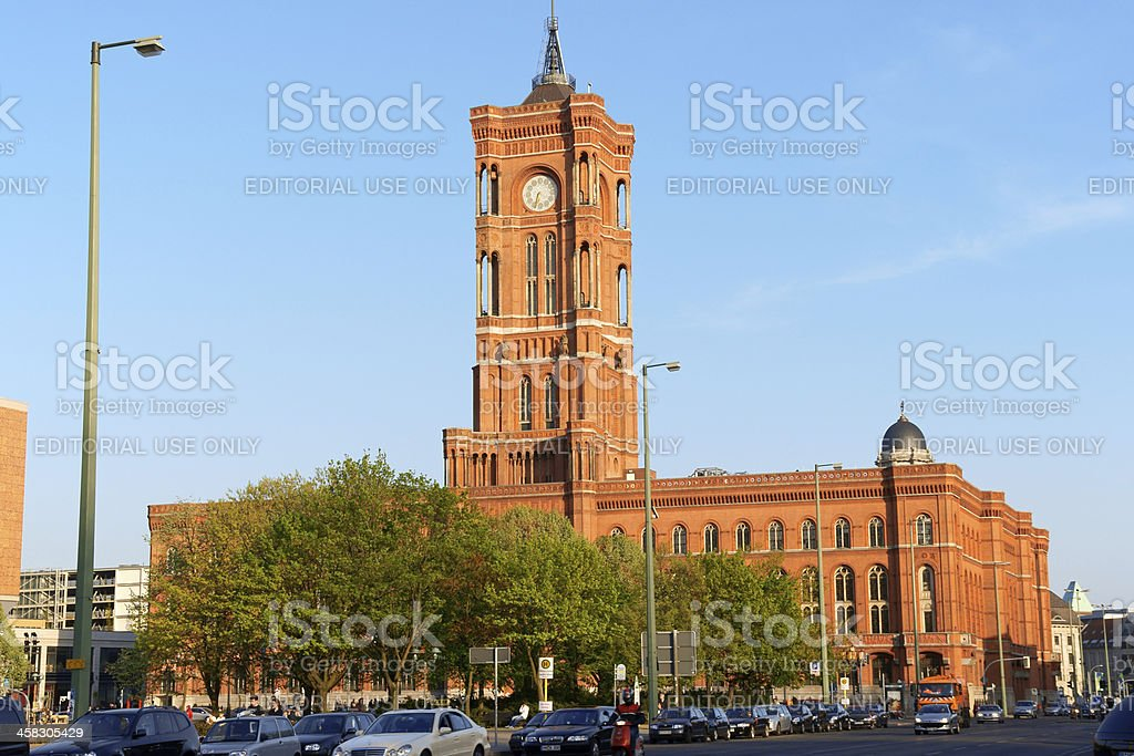 Rathaus, Berlin Town Hall royalty-free stock photo