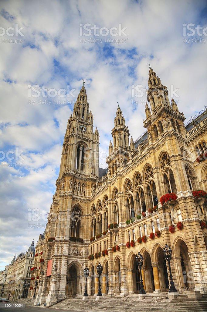 Rathaus (City hall) in Vienna, Austria royalty-free stock photo