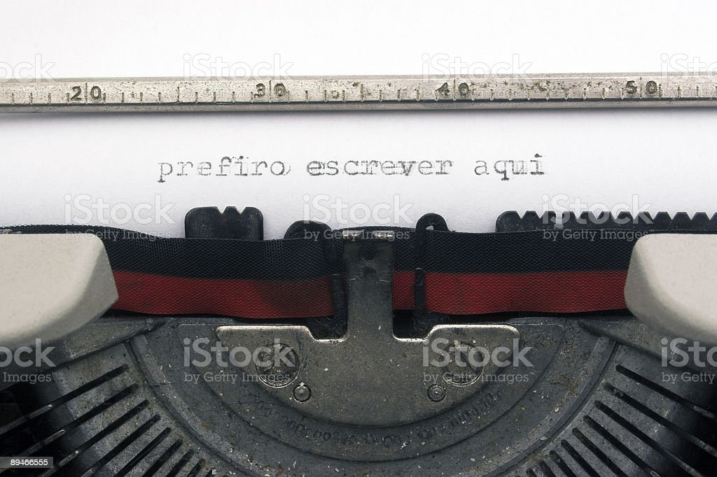 I rather write here - in portuguese royalty-free stock photo