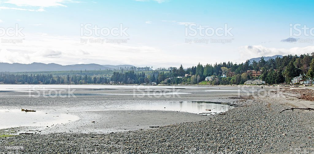 Rathtrevor  Beach Scene royalty-free stock photo