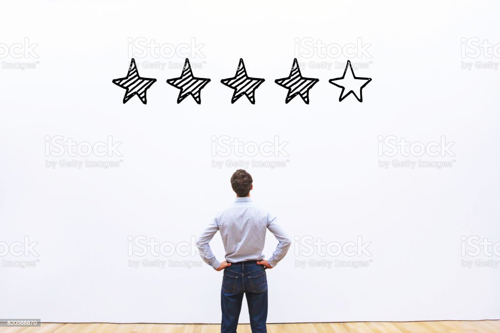 rating concept, reputation management rating concept, 5 stars Abstract Stock Photo