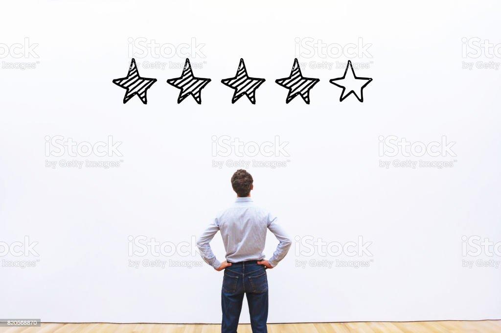 rating concept, reputation management stock photo
