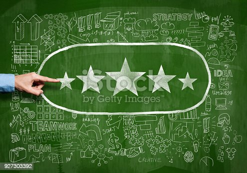 istock Rating Five Stars on Blackboard (Click for more) 927303392