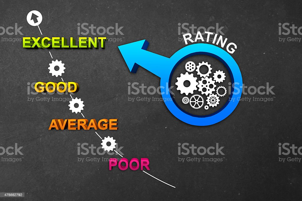 Rating Level stock photo