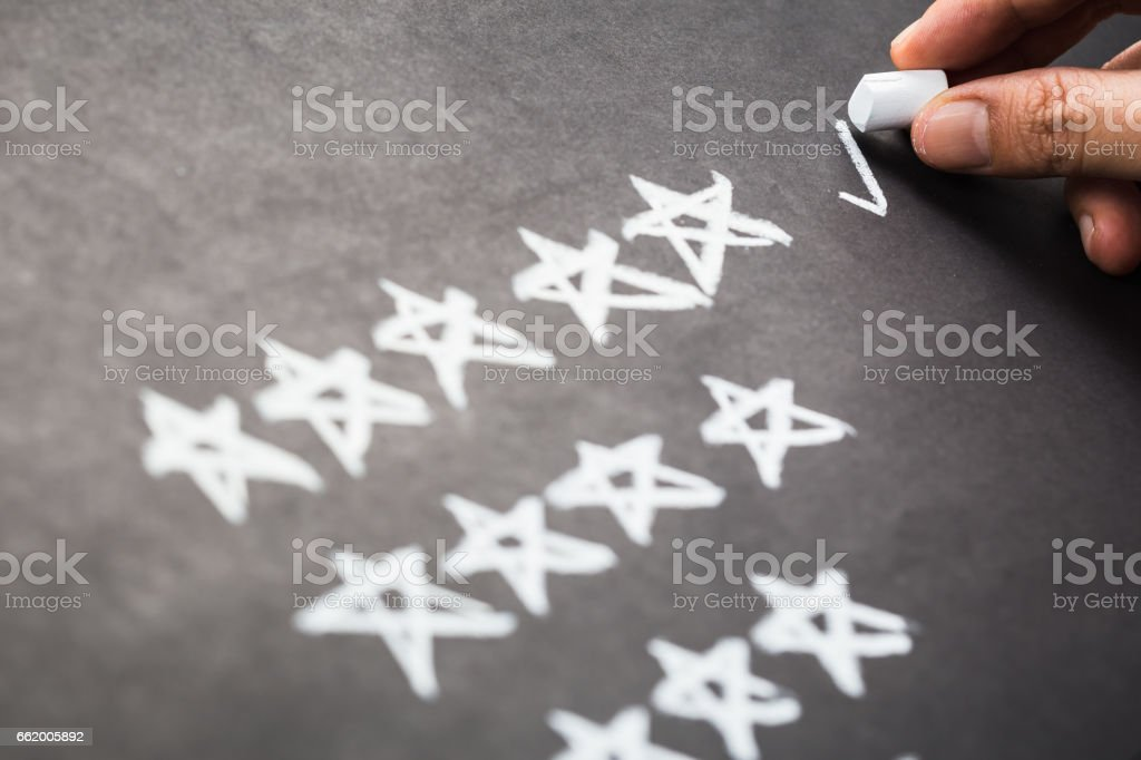 Rating stock photo