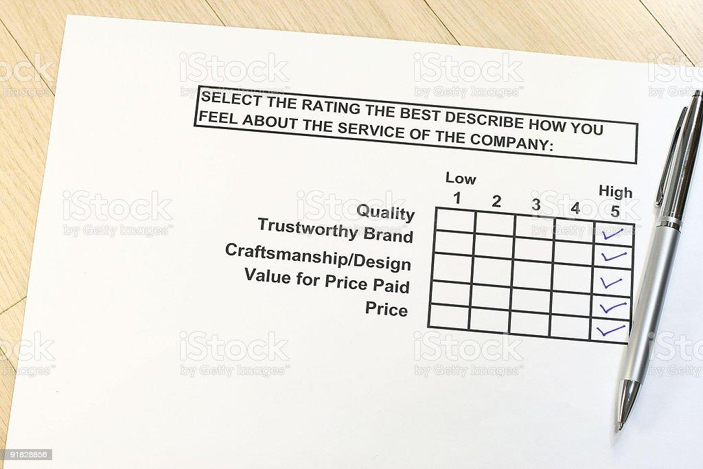 Rating survey royalty-free stock photo