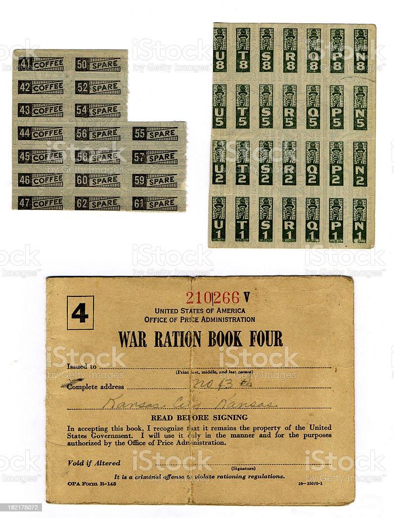 WW Ration Book (XL) stock photo
