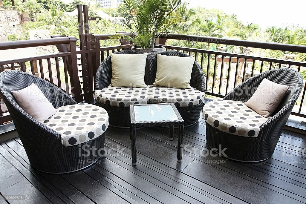 Rattan sofa. stock photo
