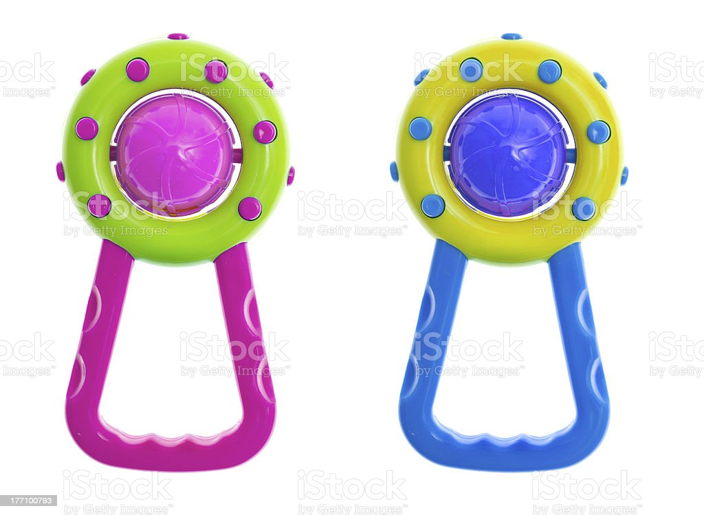 rattle toy stock photo