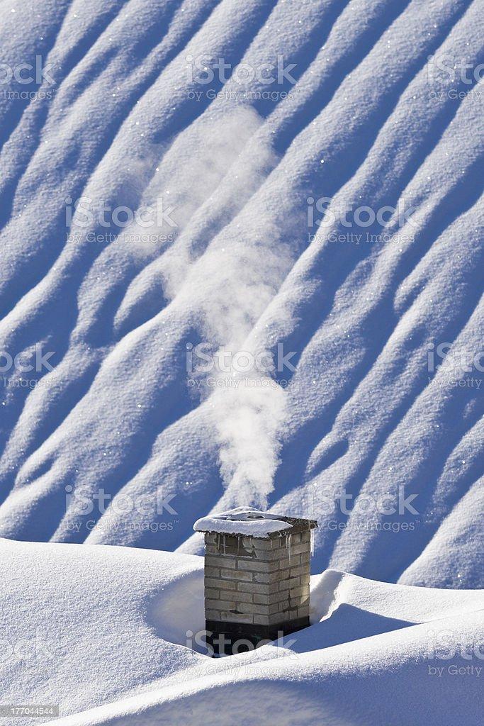 rauchender Kamin royalty-free stock photo