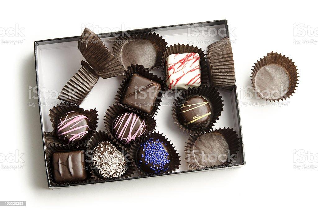 Ravaged Chocolates stock photo