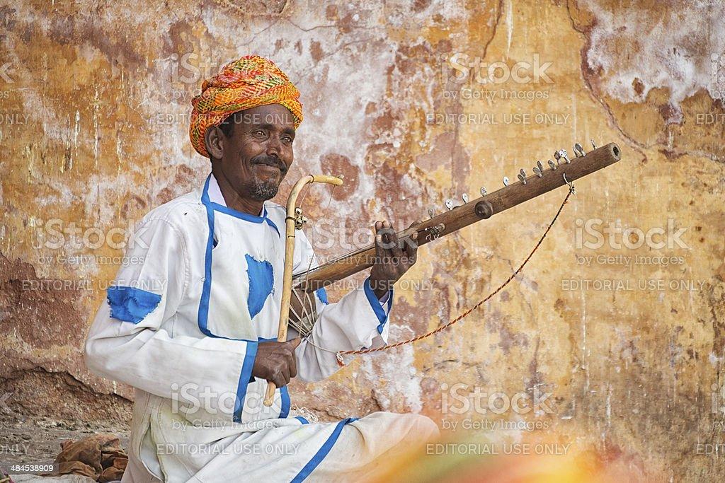 Ravanahatha Player, Jaipur, India stock photo