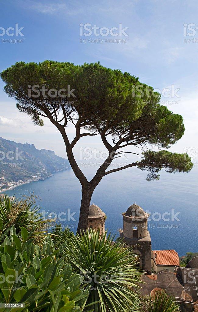 Ravello Amalfi coast foto stock royalty-free