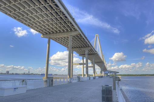 Ravenel Bridge 1 Stock Photo - Download Image Now